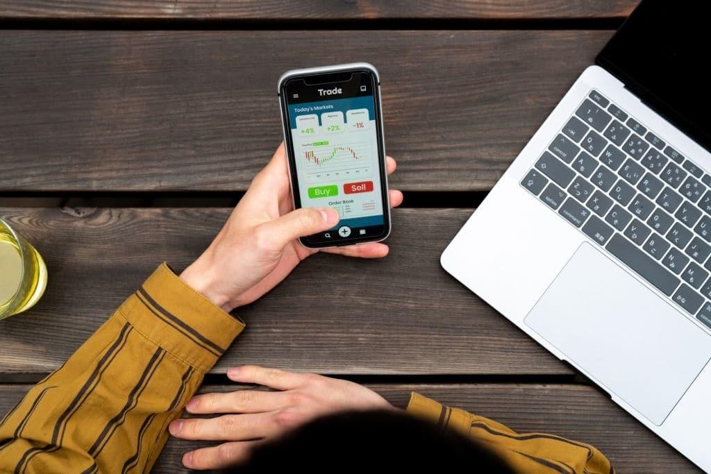 trading sur smartphone
